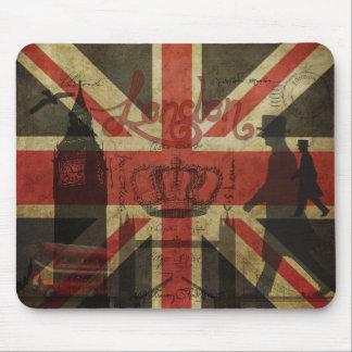 Drapeau britannique, autobus rouge, Big Ben et aut Tapis De Souris