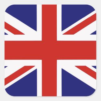 Drapeau britannique autocollants carrés