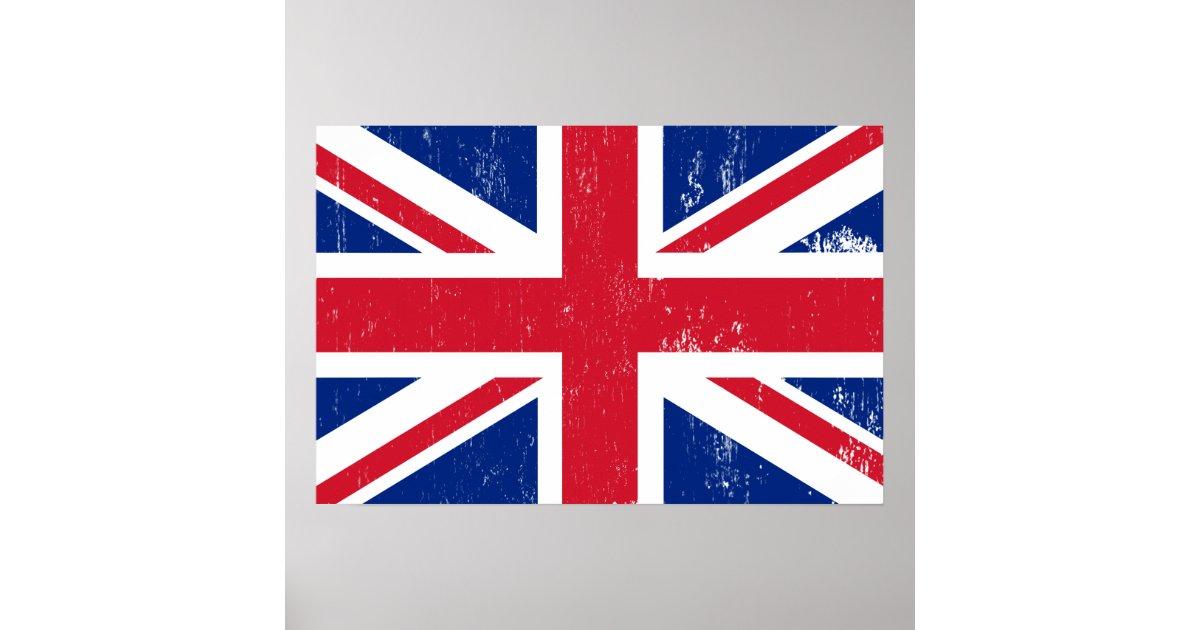 drapeau britannique britannique de l 39 anglais de la affiche. Black Bedroom Furniture Sets. Home Design Ideas