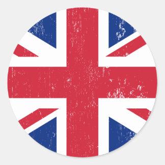 Drapeau britannique BRITANNIQUE de l'anglais de la Autocollants Ronds
