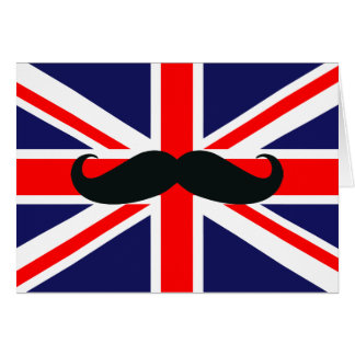 Drapeau BRITANNIQUE de la Grande-Bretagne avec la Carte De Vœux