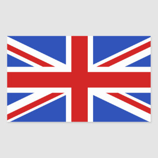 Drapeau britannique du Royaume-Uni Sticker Rectangulaire