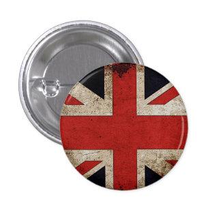 Drapeau BRITANNIQUE grunge de fierté BRITANNIQUE Badge Rond 2,50 Cm