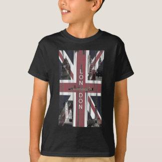Drapeau britannique grunge d'Union Jack T-shirts