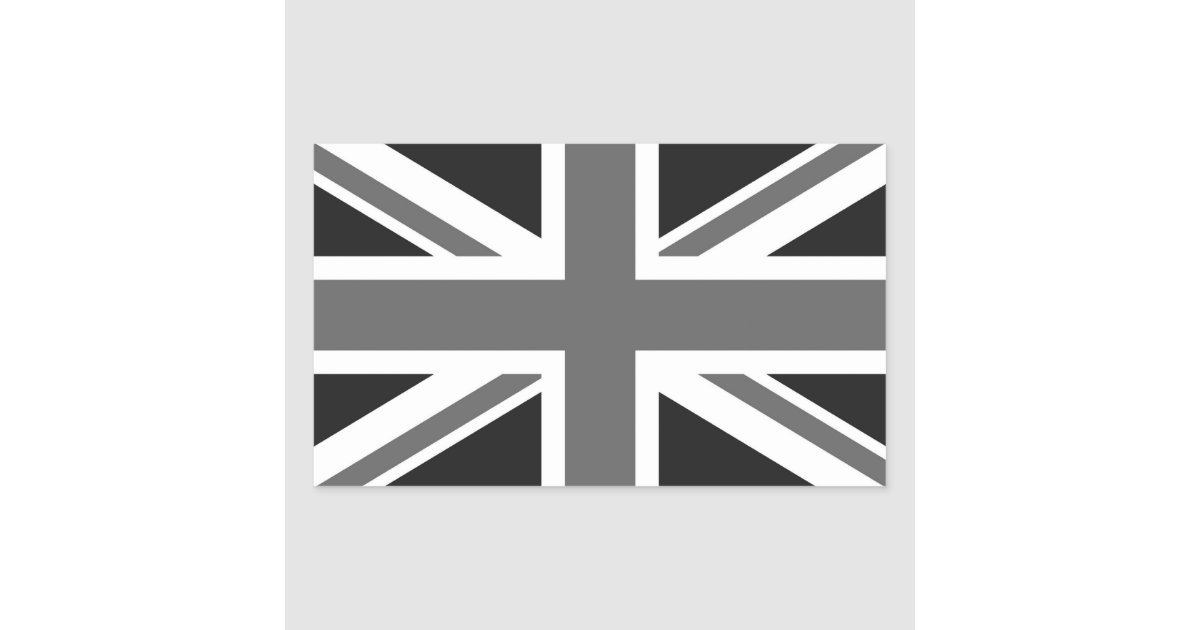 drapeau britannique noir et blanc sticker rectangulaire. Black Bedroom Furniture Sets. Home Design Ideas