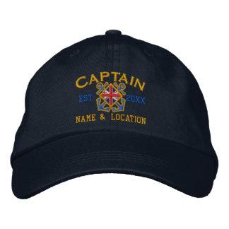 Drapeau britannique personnalisé de capitaine casquette brodée
