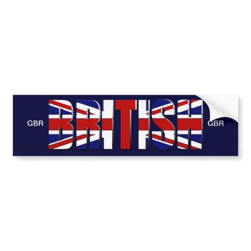 drapeau britannique royaume uni angleterre pays de adh sifs pour voiture zazzle. Black Bedroom Furniture Sets. Home Design Ideas