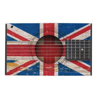 Drapeau britannique sur la vieille guitare étui iPad