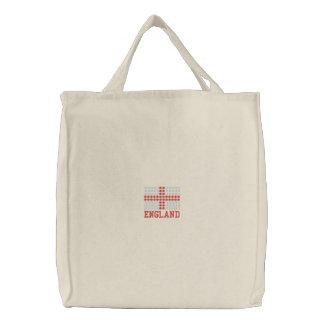 Drapeau brodé de l'Angleterre - sac anglais de dra