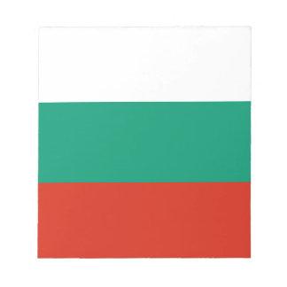 Drapeau bulgare patriotique bloc-note