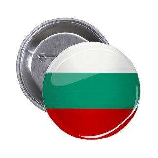 Drapeau bulgare rond brillant badge rond 5 cm