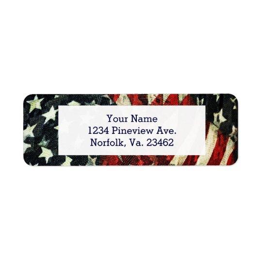 Drapeau-Camouflage américain par Shirley Taylor Étiquette D'adresse Retour