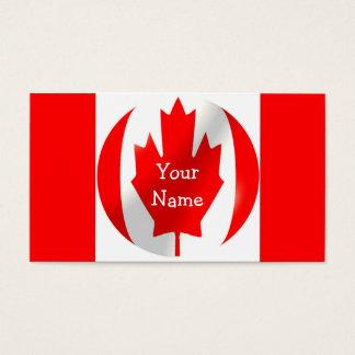 Drapeau canadien avec le carte de visite de bulle