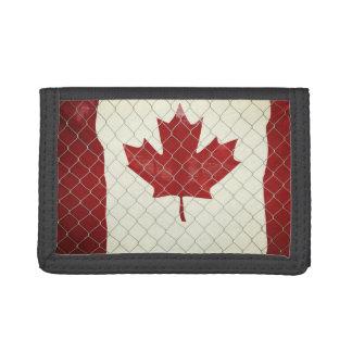 Drapeau canadien. Barrière de maillon de chaîne.