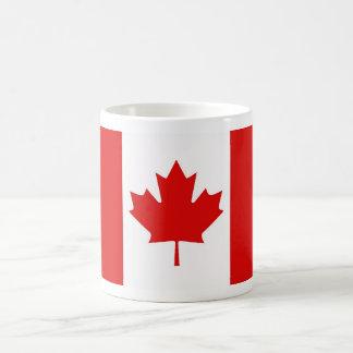 Drapeau canadien de feuille d'érable du Canada Mug Blanc