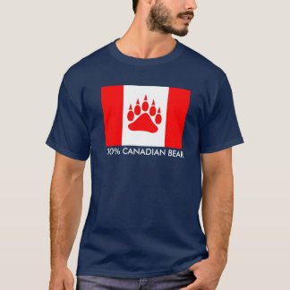 Drapeau canadien d'ours canadien de 100% avec la t-shirt
