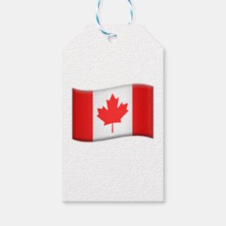 Drapeau canadien - Emoji Étiquettes-cadeau
