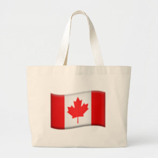 Drapeau canadien - Emoji Grand Sac