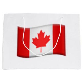Drapeau canadien - Emoji Grand Sac Cadeau