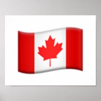 Drapeau canadien - Emoji Poster