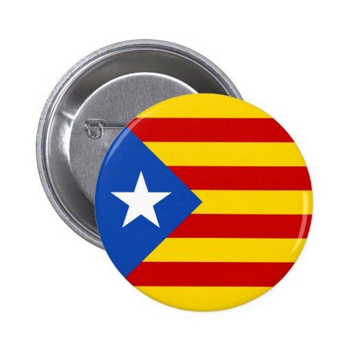 """Drapeau catalan de l'indépendance de """"L'Estelada B Pin's Avec Agrafe"""