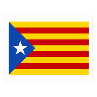 """Drapeau catalan de l'indépendance de """"L'Estelada Cartes Postales"""