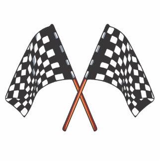 drapeau checkered badge photo sculpture