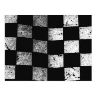 Drapeau Checkered Carte Postale