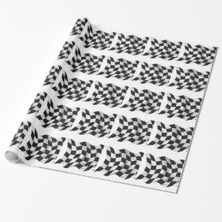 Drapeau Checkered - emballage du drapeau Papier Cadeau