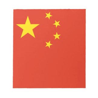 Drapeau chinois patriotique bloc-note