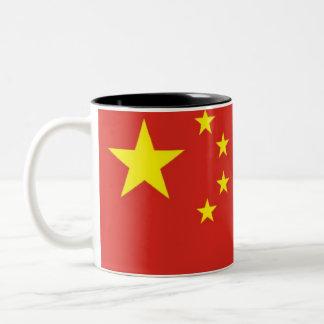 Drapeau chinois tasse 2 couleurs
