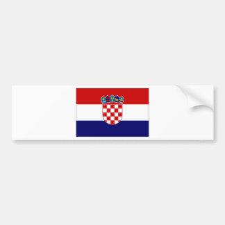 Drapeau civil de la Croatie Autocollant De Voiture