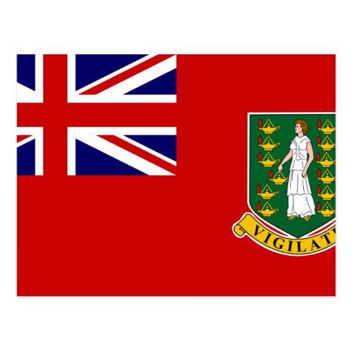 Drapeau civil des Îles Vierges britanniques, paren Cartes Postales