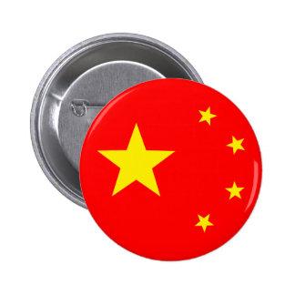 """Drapeau """"classique """" de la Chine Badge"""