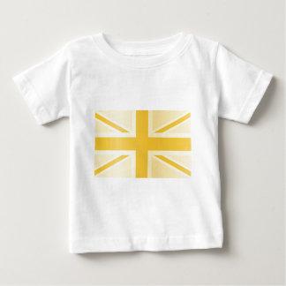 Drapeau classique d'or d'Union Jack les Anglais T-shirts