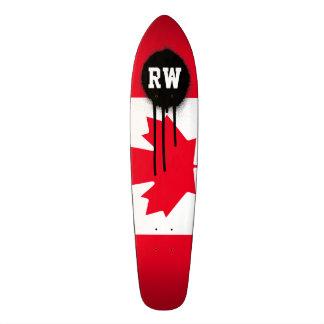 Drapeau classique du Canada Skateboard 21,6 Cm