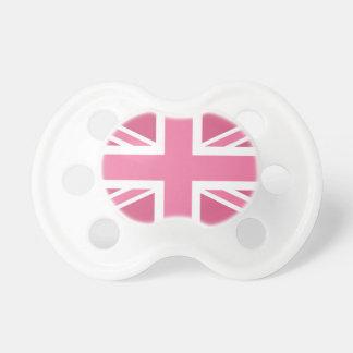 Drapeau classique rose d'Union Jack les Anglais (R Tétine