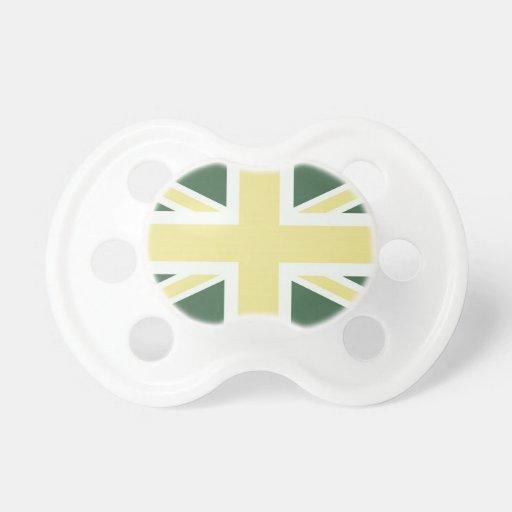 Drapeau classique vert d'Union Jack les Anglais (R Tétine