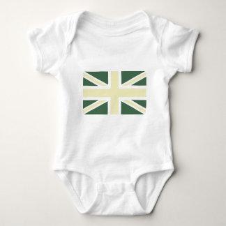 Drapeau classique vert d'Union Jack les Anglais T-shirts