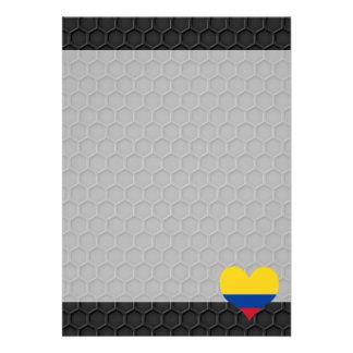 Drapeau colombien moderne carton d'invitation  12,7 cm x 17,78 cm