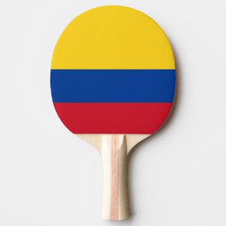 Drapeau colombien raquette tennis de table