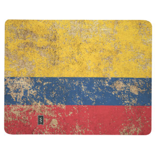 Drapeau colombien vintage âgé rugueux carnet de poche