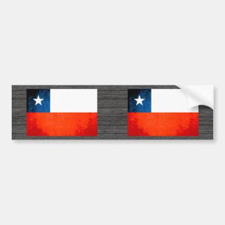 Drapeau coloré de Chilien de contraste Autocollant Pour Voiture