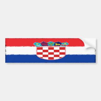 Drapeau croate autocollant pour voiture