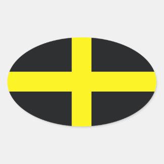 drapeau croisé Royaume-Uni Pays de Galles de David Autocollants