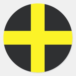 drapeau croisé Royaume-Uni Pays de Galles de David Sticker Rond