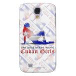 Drapeau cubain de silhouette de fille