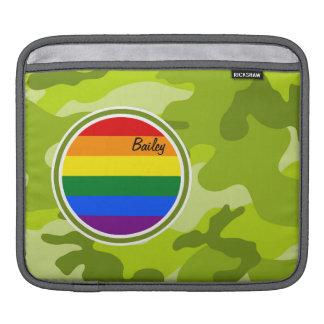 Drapeau d arc-en-ciel camo vert clair poches iPad