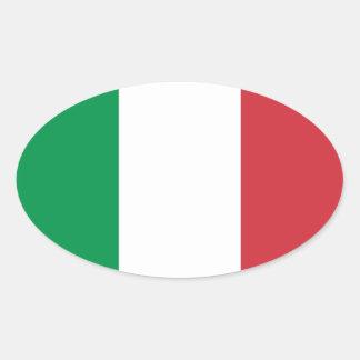 Drapeau d autocollant d ovale de l Italie