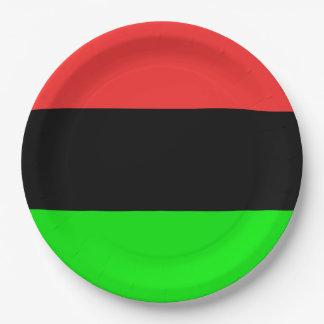 Drapeau d'Afro-américain Assiettes En Papier